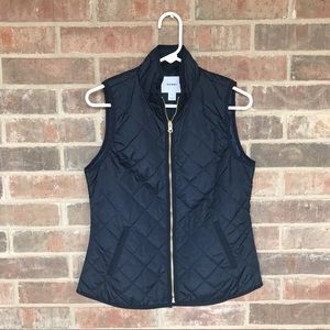 Old Navy Lightweight Quilted Vest, Navy, Small